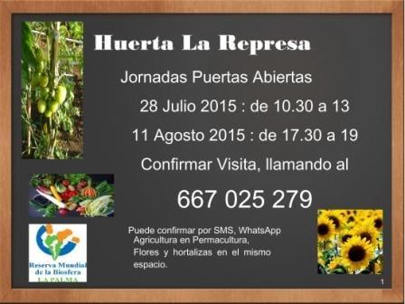 Jornada de puertas abiertas en La Huerta La Represa