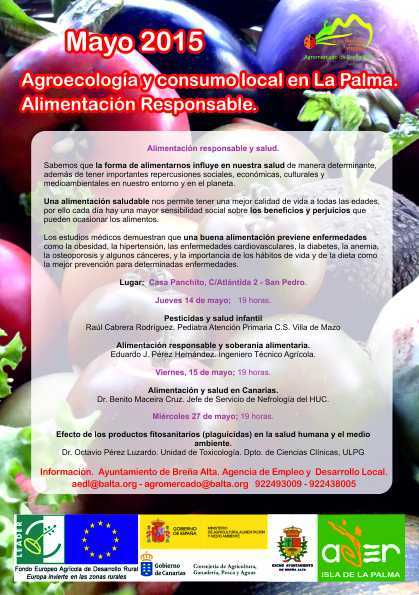 Agromercado de Breña Alta.  Alimentación responsable y salud.