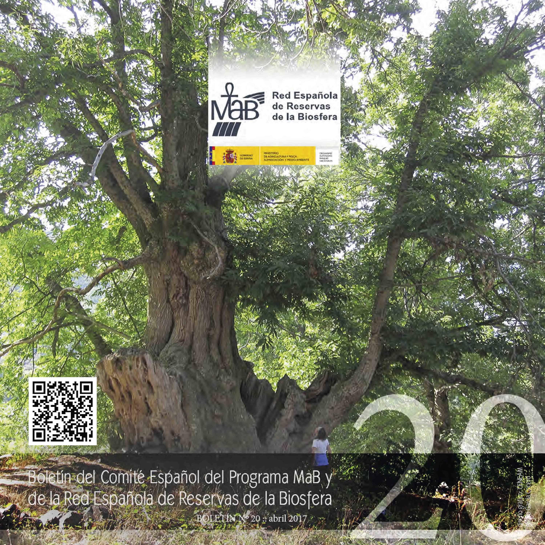 Boletín nº 20 del Comité Español del Programa MaB y de la Red Española de Reservas de Biosfera Españolas