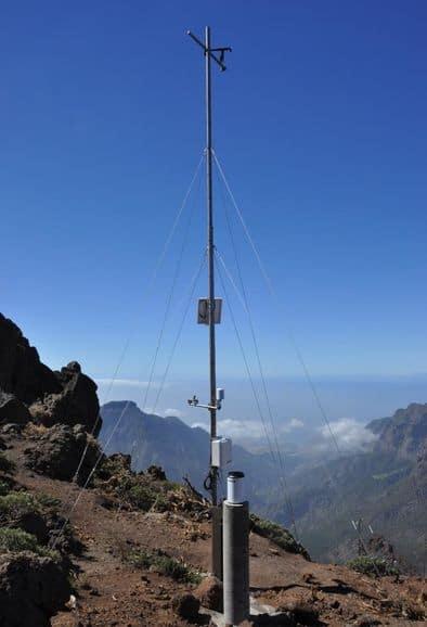 Prueban una nueva estación meteorológica en La Caldera para el seguimiento del cambio climático global