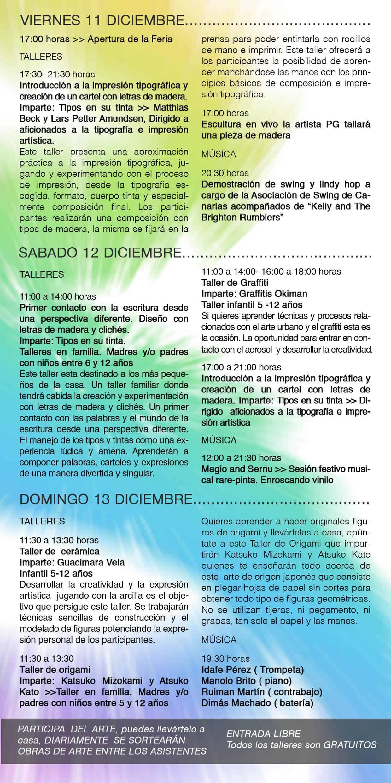 III Feria Insular de Arte de La Palma  (11 al 13 de Diciciembre. Recinto Ferial de El Paso)