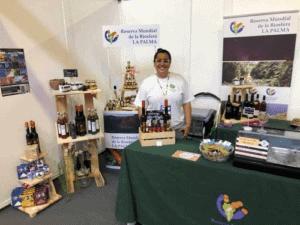COLABORACIONES Los productos de la marca Reserva Mundial de la Biosfera La Palma presentes en La Feria del Corredor de Transvulcania 2019 y la Feria Ganadera de San Antonio del Monte