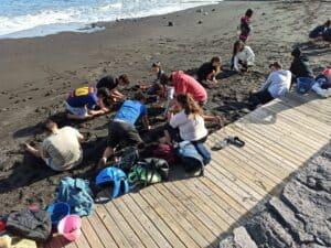 La Reserva de la Biosfera La Palma trabaja con el alumnado la problemática global del plástico, los residuos y la contaminación marina.
