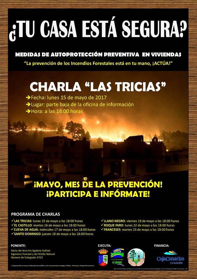 """Charlas informativas en el municipio de Garafía bajo el título: """"¿Tú casa está segura?"""""""