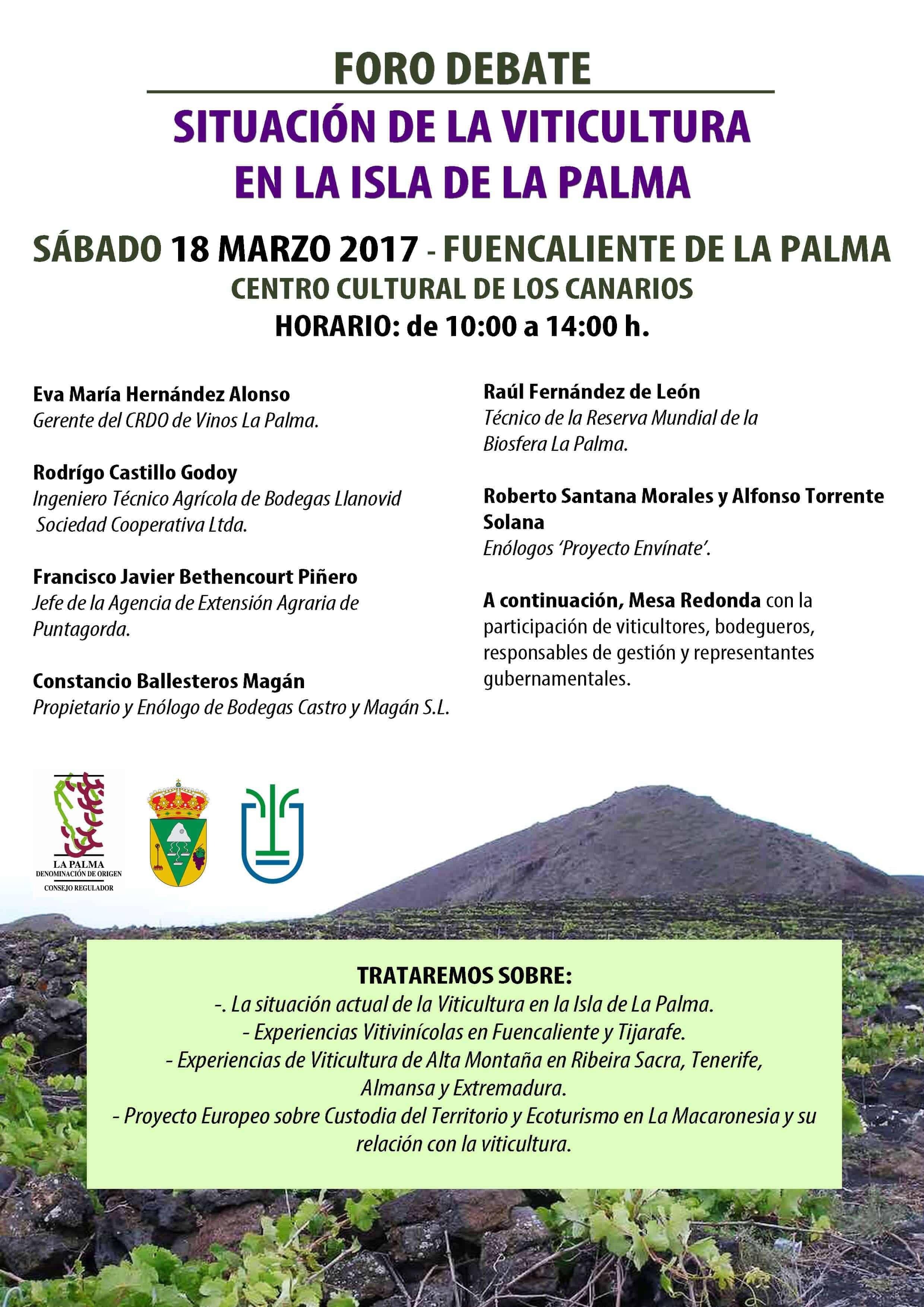 El viñedo de La Palma, a debate en Fuencaliente.