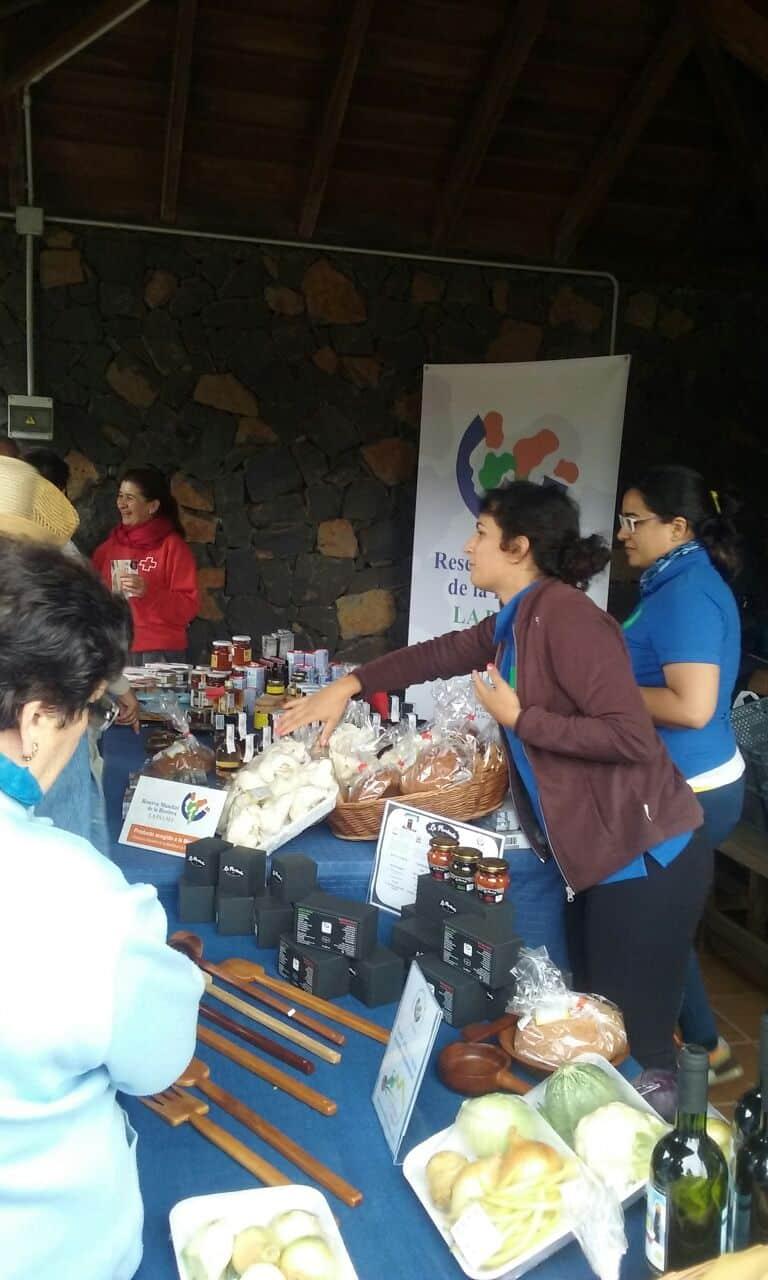 La Reserva Mundial de la Biosfera La Palma participó en las Fiestas de San Antonio del Monte de Garafía