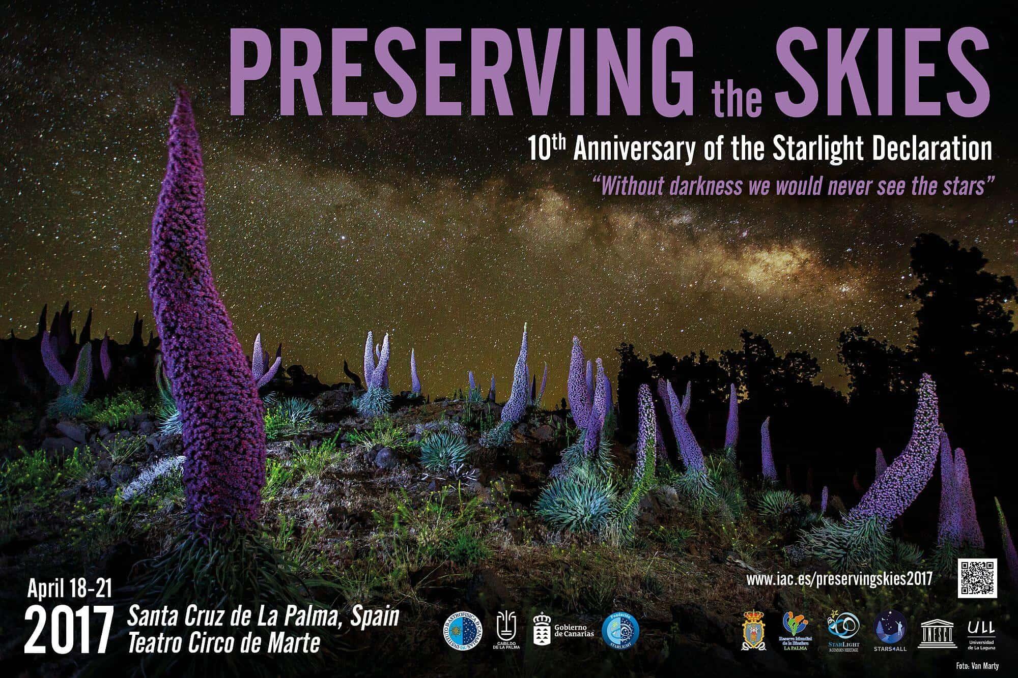 La Palma se convertirá en abril en el epicentro mundial para la protección y conservación del cielo nocturno