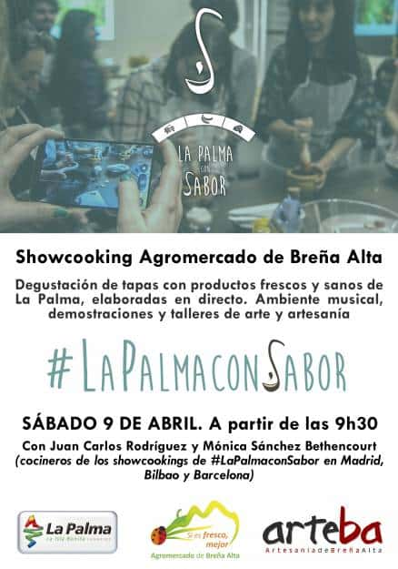 Este sábado la Marca Reserva Mundial de la Biosfera La Palma participa en el showcooking del Agromercado de Breña Alta.