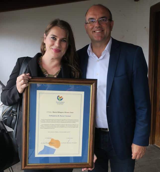 Nombran a la egiptóloga Milagros Álvarez 'Embajadora de Buena Voluntad' de la Reserva Mundial de la Biosfera La Palma
