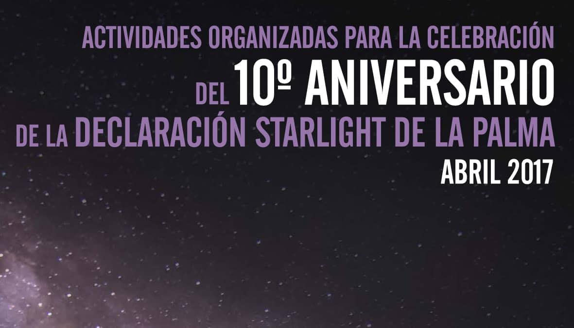 10º Aniversario de la Declaración Starlight de La Palma.