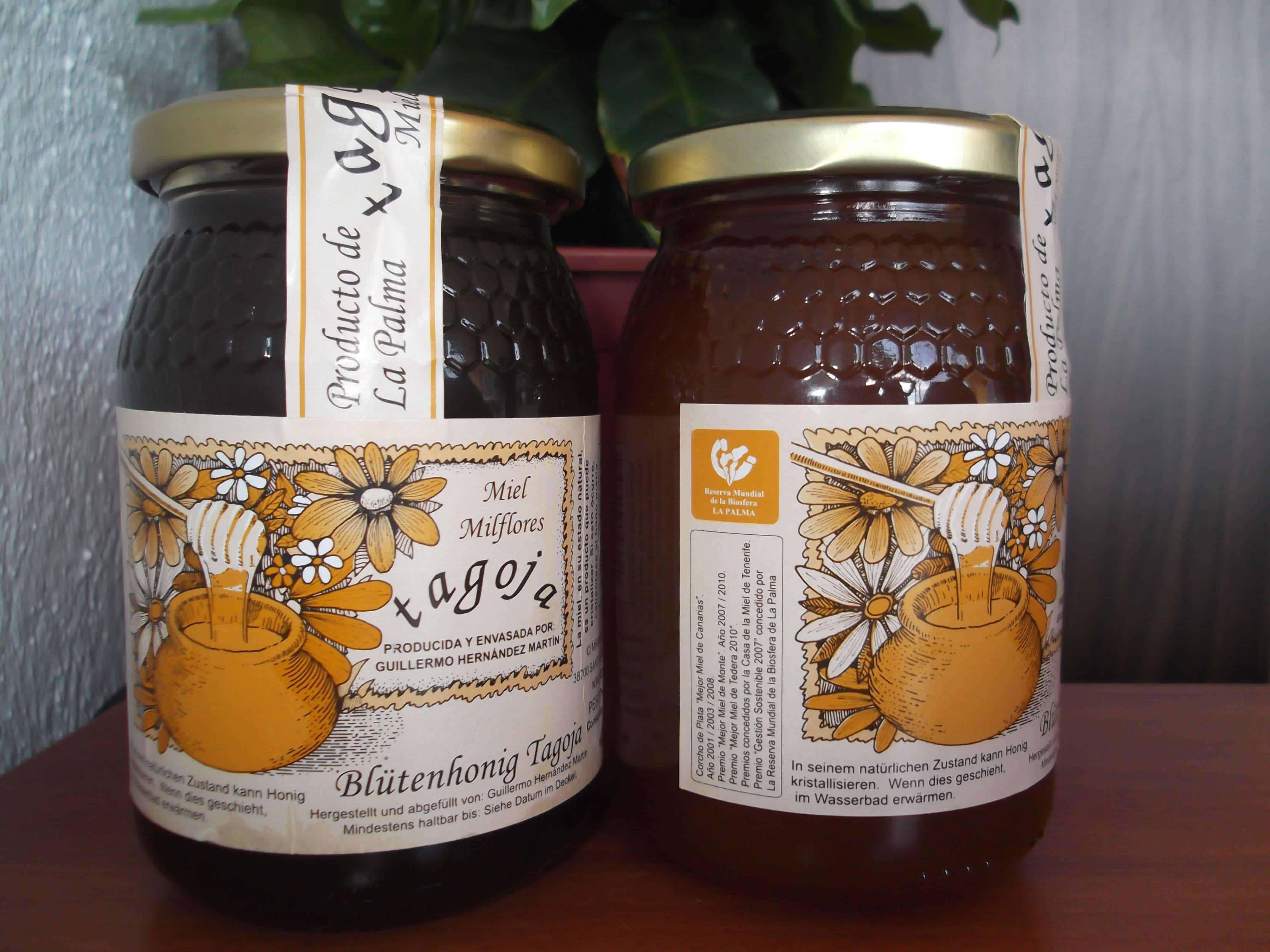 Miel Tagoja, marca Reserva Mundial de la Biosfera La Palma, Premio Celdilla de Plata, a la mejor miel de tederas de Canarias.
