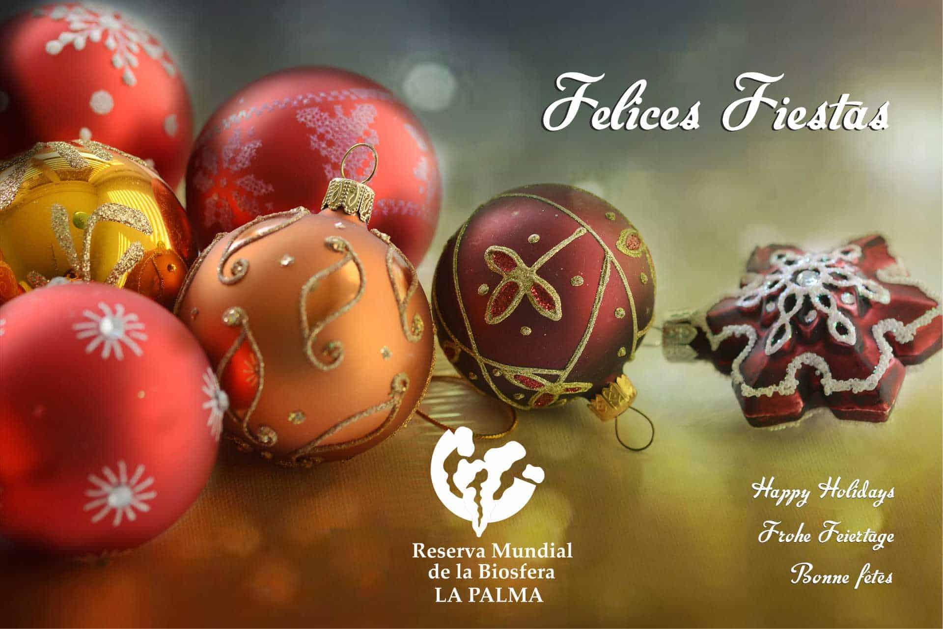 Desde la Reserva Mundial de la Biosfera La Palma queremos desearles a tod@s Feliz Navidad y un muy próspero Año Nuevo!!!