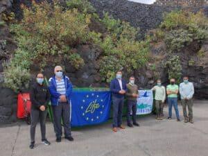 La Reserva de la Biosfera y el Ayuntamiento de Breña Baja colaboran en el control de plantas introducidas en Los Cancajos.