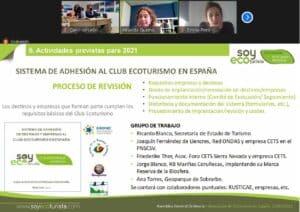 Ecoturismo en España, participación en la Asamlea Genera.